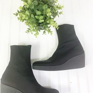 Robert Clergerie Sock Boots Womens 9.5 Black Ankle